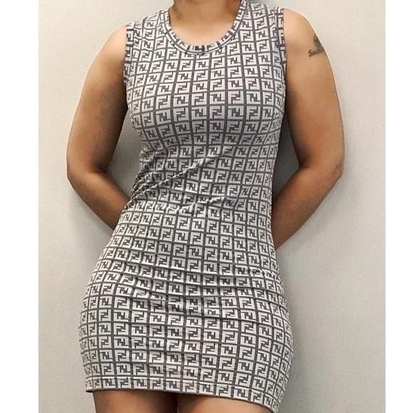 d75954d7e80 Fendi Dresses   Skirts - FENDI FF MONOGRAM LOGO MINI DRESS S M